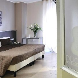 Double rooms at the Hotel Duomo in the center of Cremona